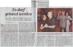 Tanzveranstaltung Queenshotel, Tanzabend Happy Hours, Kulturprojekt Kirchrode